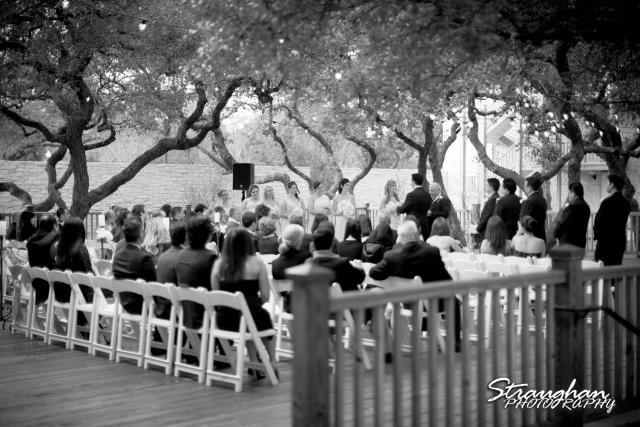 Jessica wedding Hyatt Hill Country Resort back view