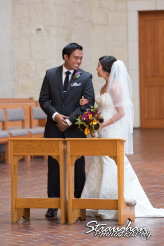 Cristina wedding St. Peters the Apostle Catholic Church Boerne happy groom