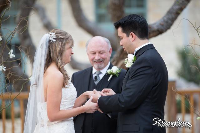 Jessica wedding Hyatt Hill Country Resort rings
