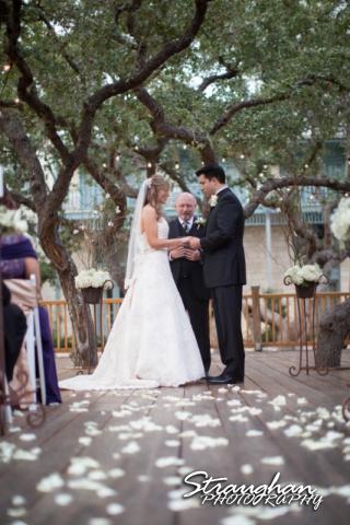 Jessica wedding Hyatt Hill Country Resort prayer