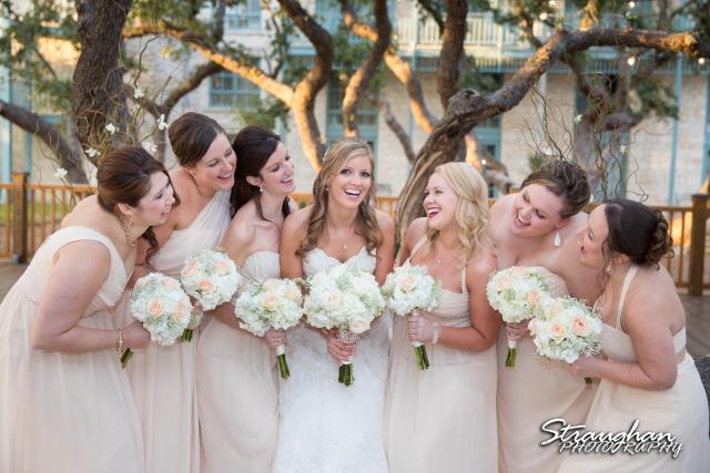 Jessica wedding Hyatt Hill Country Resort the girls