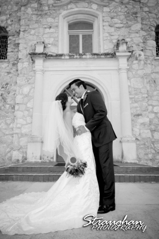 Cristina wedding St. Peters the Apostle Catholic Church Boerne dip