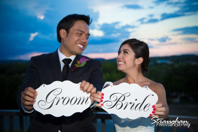 Cristina wedding St. Peters the Apostle Catholic Church Boerne signs