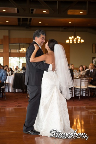 Cristina wedding St. Peters the Apostle Catholic Church Boerne dad dance