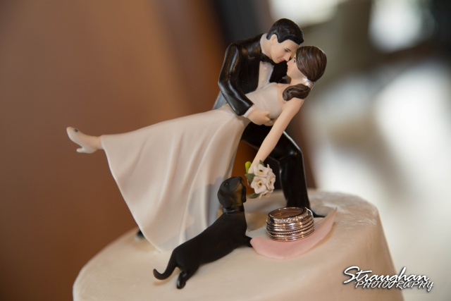 Cristina wedding St. Peters the Apostle Catholic Church Boerne cake topper
