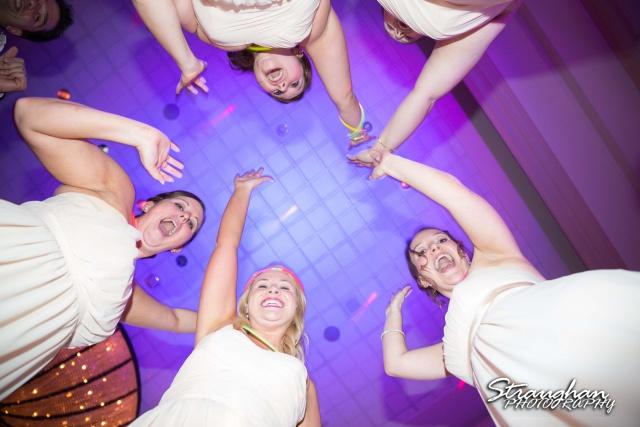 Jessica wedding Hyatt Hill Country Resort girls from below