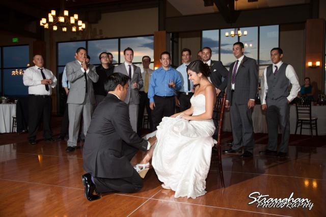 Cristina wedding St. Peters the Apostle Catholic Church Boerne garter