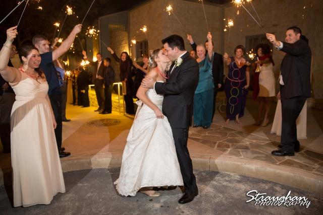 Jessica wedding Hyatt Hill Country Resort exit