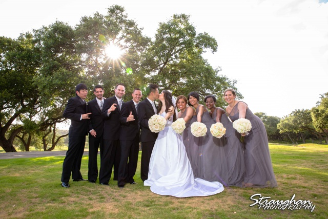 John and Christine wedding Sonterra bridal party