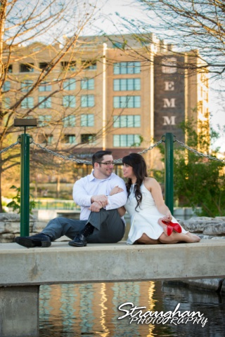 Derrick- Jessica Engagement at the Pearl Louboutin shoes