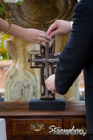 Jessica wedding the Dominion unity cross