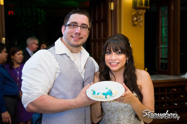 Jessica wedding the Dominion blue cake