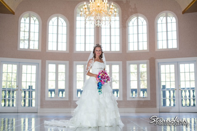Jazmine Bridal Castle Avalon in the ballroom