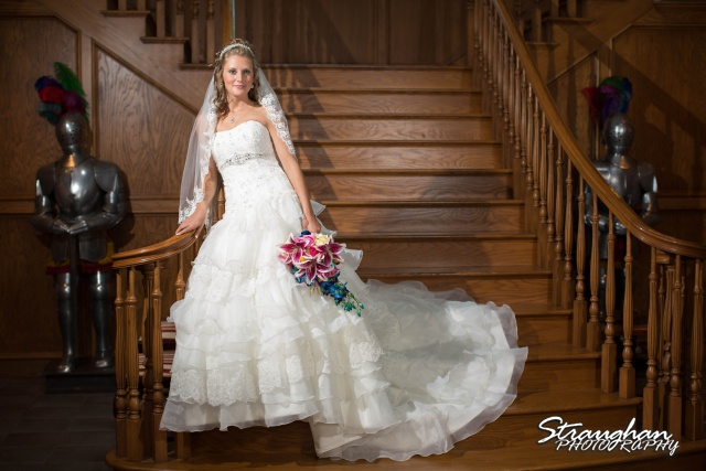 Jazmine Bridal Castle Avalon bottom of the stairs