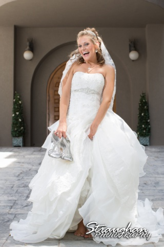 Jazmine Bridal Castle Avalon front door laughing