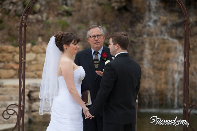 Jamie and Jack wedding Bridal Veil Falls vows