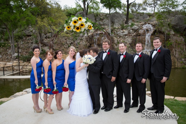 Jamie and Jack wedding Bridal Veil Falls bridal party