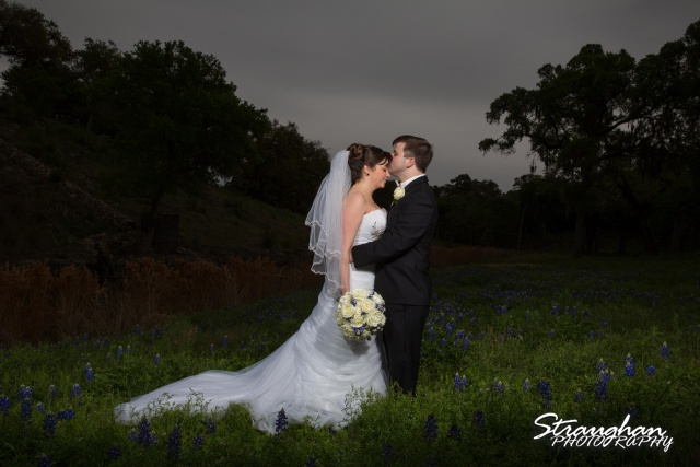 Jamie and Jack wedding Bridal Veil Falls in the bluebonnets