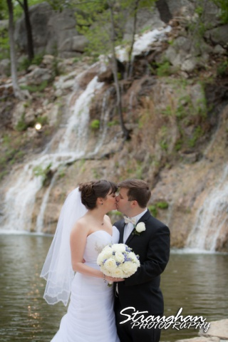 Jamie and Jack wedding Bridal Veil Falls couple at the waterfall