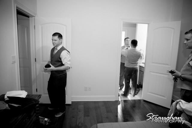 Josh DIY wedding Spring Branch guys getting ready
