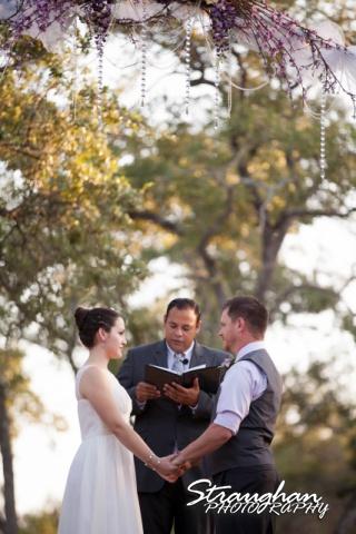 Josh DIY wedding Spring Branch ceremony