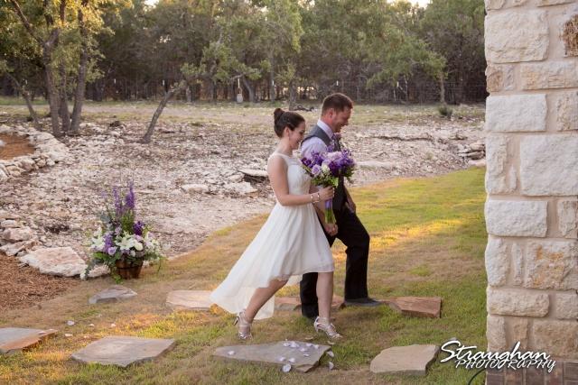 Josh DIY wedding Spring Branch husband and wife