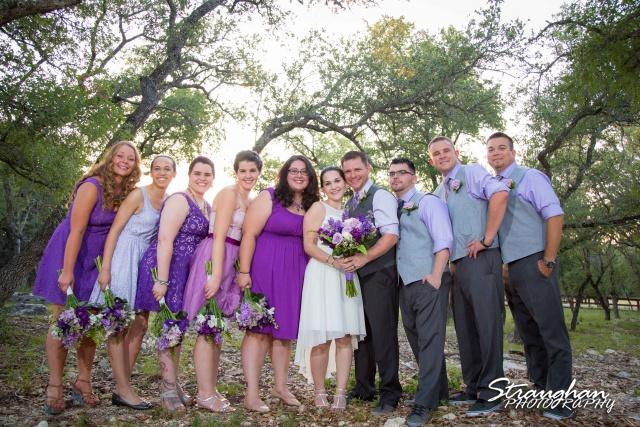 Josh DIY wedding Spring Branch family