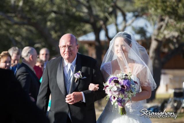 Wedding Bella Springs Jennifer dad and bride