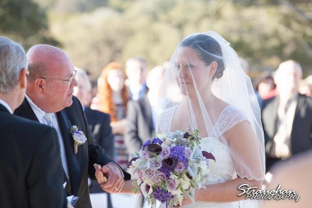Wedding Bella Springs Jennifer hand off