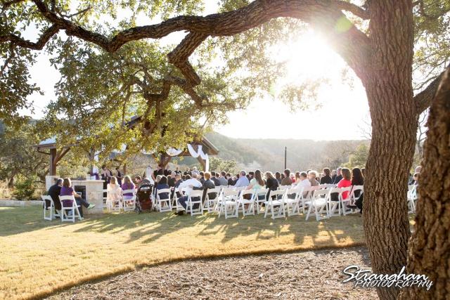 Wedding Bella Springs Jennifer sun on the couple