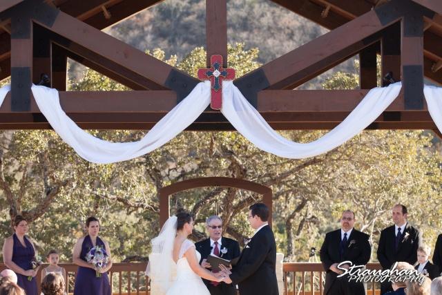 Wedding Bella Springs Jennifer ceremony top