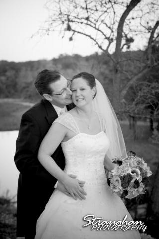 Wedding Bella Springs Jennifer the couple black and white
