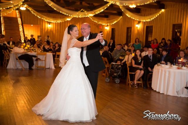 Wedding Bella Springs Jennifer dad and daughter dance