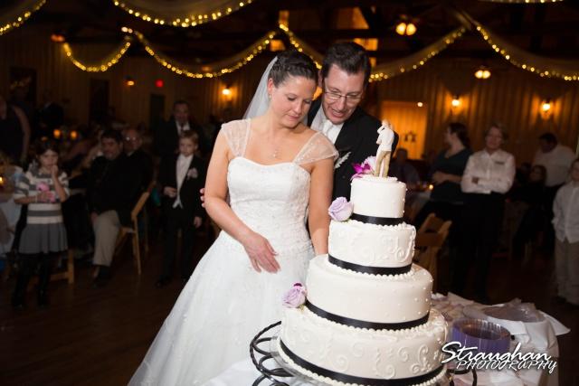 Wedding Bella Springs Jennifer cake cutting