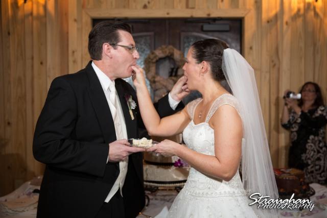 Wedding Bella Springs Jennifer cake feeding