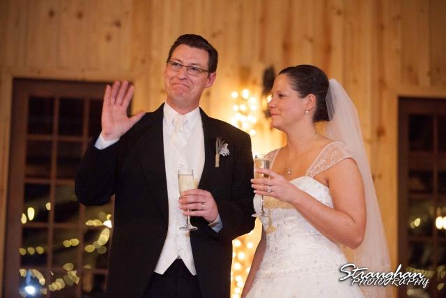 Wedding Bella Springs Jennifer toasts