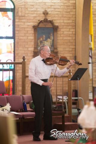 Katie wedding Kendall Plantation grandpa violin