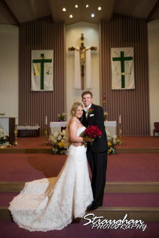 Katie wedding Kendall Plantation couple in the church