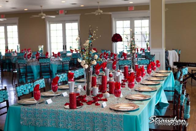 Katie wedding Kendall Plantation head tablescape