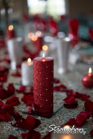 Katie wedding Kendall Plantation candles