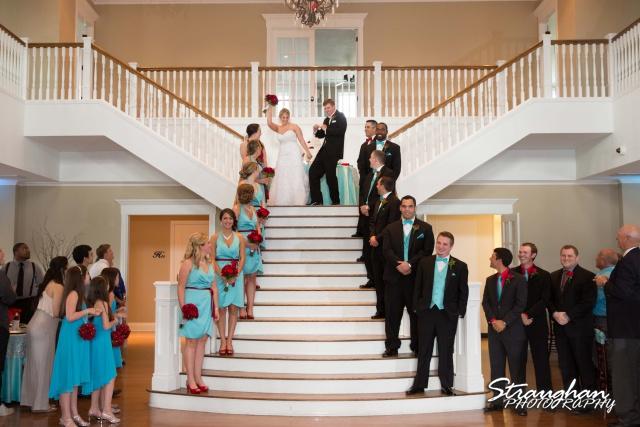 Katie wedding Kendall Plantation grand entrance