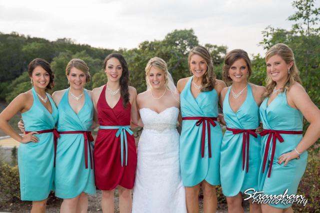 Katie wedding Kendall Plantation the girls