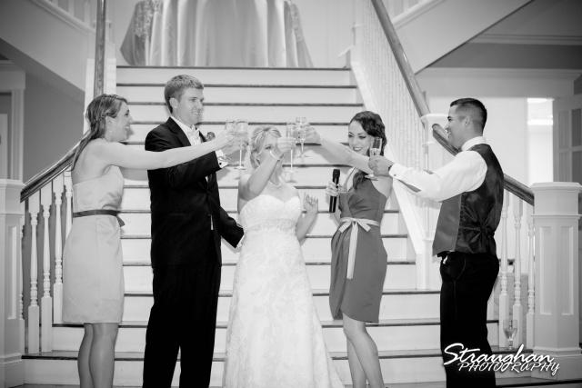 Katie wedding Kendall Plantation toasts