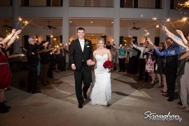 Katie wedding Kendall Plantation sparkler exit
