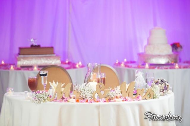 Lori  Joe wedding Sheraton Gunter head table