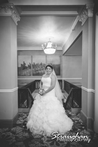 Lori & Joe wedding Sheraton Gunter Lori in in the hall