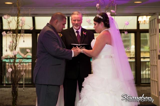 Lori &a  Joe wedding Sheraton Gunter ring exchange