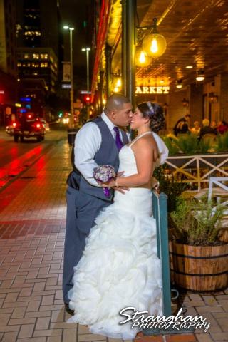 Lori & Joe wedding Sheraton Gunter on the street