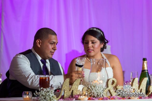 Lori  Joe wedding Sheraton Gunter cheers