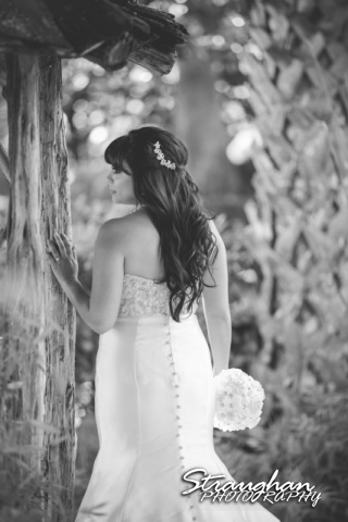 Jessica M's Bridal McNay Art Museum back of dress black and white